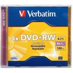 Verbatim 94520 DVD Rewritable Media - DVD+RW - 4x - 4.70 GB - 1 Pack Jewel Case VER94520