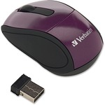 Verbatim Wireless Mini Travel Mouse Purple VER97473