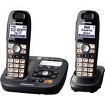Panasonic DECT 6.0 1.90 GHz Cordless Phone - Metallic Black PANKXTG6592T