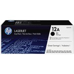 HP 12A (Q2612D) 2-pack Black Original LaserJet Toner Cartridges HEWQ2612D