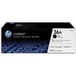 HP 36A 2-pack Black Original LaserJet Toner Cartridges HEWCB436D