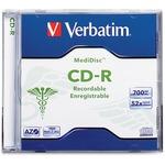 Verbatim MediDisc CD-R 700MB 52X Thermal Printable Branded Surface - 1pk Jewel Case VER94736