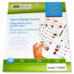 Imprint Plus Mighty Badge Oval Name Badge Insert Sheet IPP3218