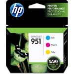 HP 951 Ink Cartridge - Cyan, Magenta, Yellow HEWCR314FN