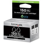 Lexmark 150XL Twin Pack High Capacity Return Program Ink Cartridge LEX14N1813