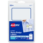 Avery Blue Border Name Badge Label AVE5151