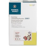 Business Source Credit Card Laminating Pouch BSN20851