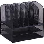 Lorell Horizontal Vertical Mesh Desk Organizer LLR37523
