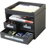 Victor Midnight Black Tidy Tower Organizer VCT55005