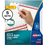 Avery Big Tab Index Maker Clear Label Divider AVE11493