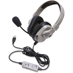 Califone Washable Headphone W/ Usb, In-line Volume Via Ergoguys