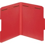 Globe-Weis Color Pressboard Folders with Fastener GLW15936GW