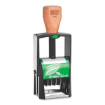 COSCO 2000 Plus Green Line Two-Color Dater Stamp COSG2360