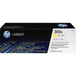 HP 305A (CE412A) Yellow Original LaserJet Toner Cartridge HEWCE412A