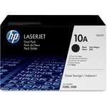 HP 10A (Q2610D) 2-pack Black Original LaserJet Toner Cartridges HEWQ2610D