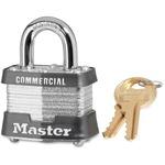 Master Lock 1-9/16in (40mm) Wide Laminated Steel Pin Tumbler Padlock MLK3DCOM