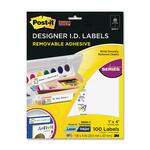 Post-it Designer ID Label MMM3900T