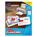 Avery Custom Print Flash Card AVE04780