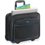 "Solo Tech Carrying Case (Roller) for 16"" Notebook, iPad, Tablet PC, Digital Text Reader - Black, Blue USLTCC902420"