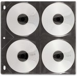 IdeaStream CD Pages 8 Capacity, 50 Pack - Black - Vaultz - VZ01415 IDEVZ01415