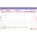 Day Runner Watercolors Compact Monthly Desk Pad Calendar AAGSK91705