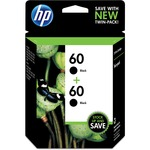 HP 60 2-pack Black Original Ink Cartridges HEWCZ071FN