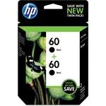 HP 60 2-pack Black Original Ink Cartridges HEWCZ071FN