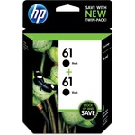 HP 61 2-pack Black Original Ink Cartridges HEWCZ073FN