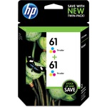 HP 61 2-pack Tri-color Original Ink Cartridges HEWCZ074FN