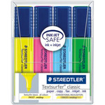 Staedtler Chisel Tip Highlighters with Pocket Clip STD364KP4A6