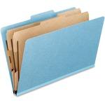 TOPS Heavy Duty Pressboard Classification Folders, Letter size, Sky Blue PFX02604