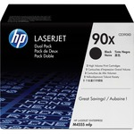 HP 90X 2-pack High Yield Black Original LaserJet Toner Cartridges HEWCE390XD