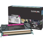 Lexmark C746, C748 Magenta Return Program Toner Cartridge LEXC746A1MG