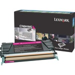 Lexmark C748 Magenta High Yield Return Program Toner Cartridge LEXC748H1MG