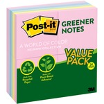 Post-it Sunwashed Greener Recycled Pads ValuPak MMM654RP24AP