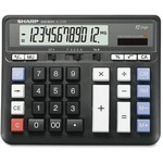 Sharp 12-Digit Solar Desktop Calculator SHREL2135BK