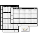 Day-Timer Horizontal/Vertical Two-Sided Erasable Wall Calendar DTM17214