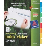 Skilcraft Clear Label Index Maker Divider NSN6006970