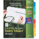 Skilcraft 8-Tab Clear Label Index Maker Divider NSN6006978