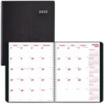 Rediform DuraFlex Nonrefillable Monthly Planner REDCB1262VBLK-BULK