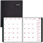 Rediform DuraFlex Nonrefillable Monthly Planner REDCB1262VBLK