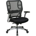 Office Star Grid/Mesh Chair w/ Flip Arms OSP2153R2C62R5