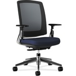 HON Lota Series Aluminum Polished Base Mesh Back Work Chair HON2283VA90PA