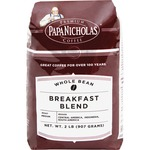 PapaNicholas Coffee Breakfast Blend Whole Bean Coffee PCO32006