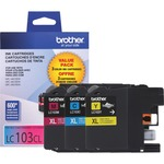 Brother Innobella LC1033PKS Tri-pack Ink Cartridge - Assorted, Magenta, Yellow BRTLC1033PKS