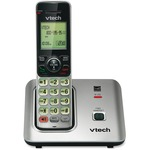 VTech CS6619 DECT 6.0 Expandable Cordless Phone with Caller ID/Call Waiting, Silver with 1 Handset VTECS6619