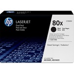 HP 80X Dual Pack Toner Cartridge - Black HEWCF280XD