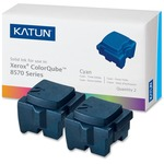 Katun Solid Ink Stick - Replacement for Xerox (108R00926) - Cyan KAT39395