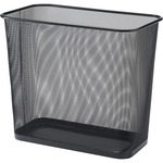 Lorell Black Mesh Rectangular Waste Bin LLR52771