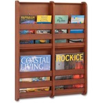 Safco 4-Pocket Bamboo Magazine Wall Rack SAF4623CY